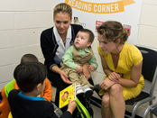 Jessica Alba and Keri Russell at Unity Cardozo Clinic