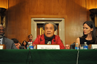 Marian Wright Edelman Testifies before a Senate committee