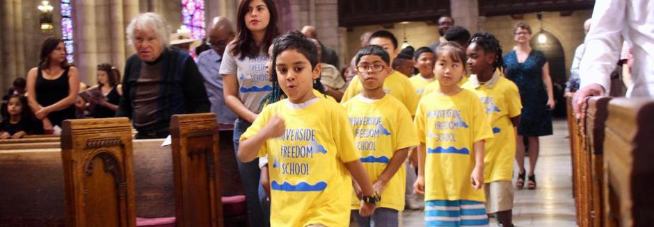 Children Celebrating Childrens  Sabbaths in Riverside Church